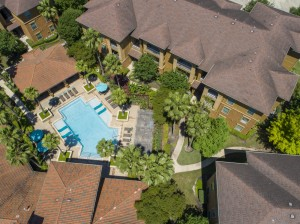 Three Bedroom Apartments for Rent in Northwest Houston, TX -Aerial View of Community & Pool (2)